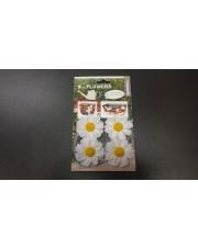 Kwiatki BASIL FLOWERS 4 szt. białe do dekoracji koszyka